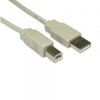 CABLE USB CONEXION A y B (GRIS)