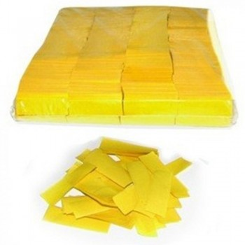 CONFETI RECTANGULAR PAPEL AMARILLO 1KG