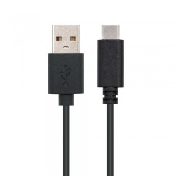 CABLE USB 2.0 3A, TIPO USB-C/M-A/M, NEGRO, 0.5 M