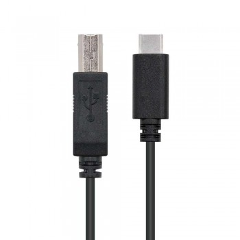 CABLE USB 2.0 IMPRESORA 3A, TIPO USB-C/M-B/M, NEGRO, 1.0 M
