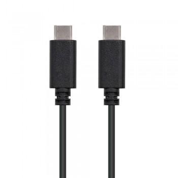 CABLE USB 2.0 3A, TIPO USB-C/M-USB-C/M, NEGRO, 0.5 M