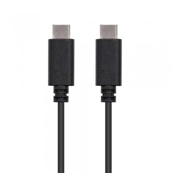 CABLE USB 2.0 3A, TIPO USB-C/M-USB-C/M, NEGRO, 3.0 M