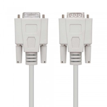 CABLE SERIE RS232, DB9/M-DB9/H, 1.8 M