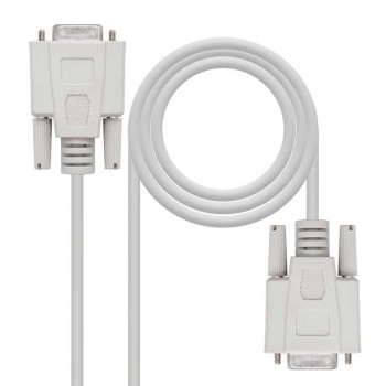 CABLE SERIE NULL MODEM, DB9/H-DB9/H, 1.8 M