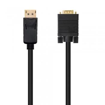 CABLE CONVERSOR DP A VGA, DP/M - VGA/M, NEGRO, 5.0 M