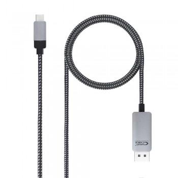 CABLE CONVERSOR USB-C A DISPLAYPORT, USB-C/M - DP/M, NEGRO, 1.8 M
