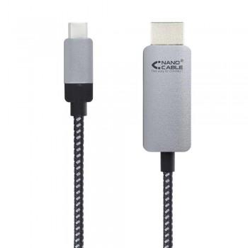 CABLE CONVERSOR USB-C A HDMI, USB-C/M - HDMI/M, NEGRO, 3.0 M