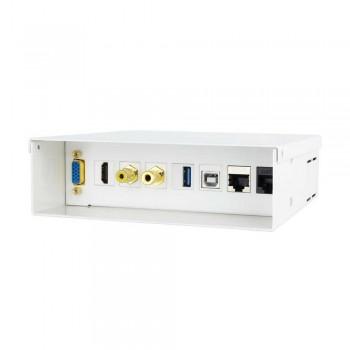 CAJA CONEX. MULTIMEDIA VGA+HDMI+JACK3.5+RCA+2xUSB+2xRJ45, BLANCO