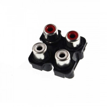 CONECTOR CHASIS RCA JACK/RCA1-3 PHONE LINE