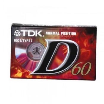 CINTA DE CASSETTE  TDK D60