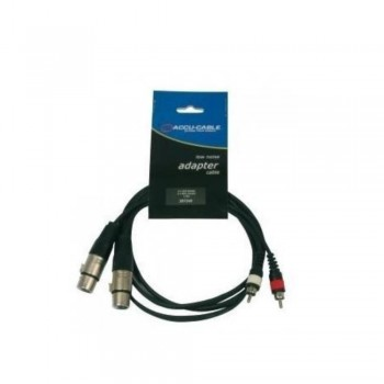 CABLE AUDIO 2XLR HEMBRA  A 2 RCA 1,5M