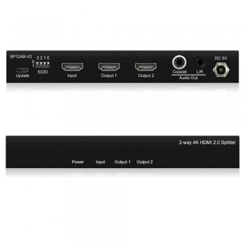 DISTRIBUIDOR/SPLITTER HDMI 4K 1 ENTRADA A 2 SALIDAS