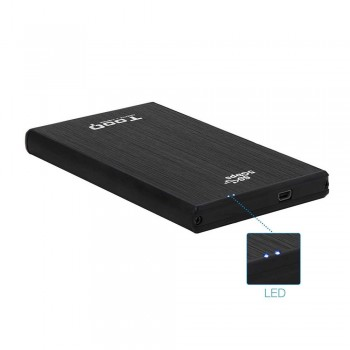 CAJA EXTERNA TOOQ TQE-2522B 2,5 9,5 MM SATA USB 3.0 NEGRA