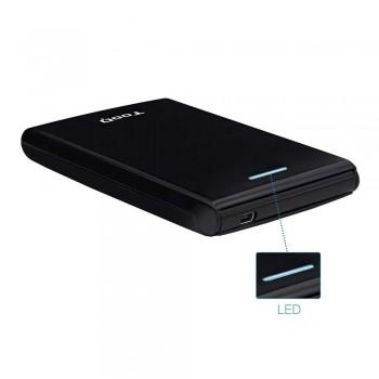 CAJA EXTERNA TOOQ TQE-2526B 2,5 9,5/12,5 MM SATA USB 3.0 NEGRA
