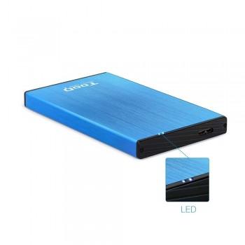 CAJA EXTERNA TOOQ TQE-2527BL 2,5 9,5 MM SATA USB 3.0/3.1 GEN1 AZUL