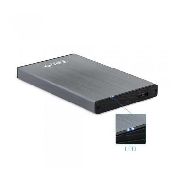 CAJA EXTERNA TOOQ TQE-2527G 2,5 9,5 MM SATA USB 3.0/3.1 GEN1 GRIS